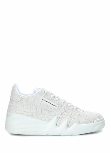 Giuseppe Zanotti Giuseppe Zanotti  Logolu Kadın Deri Sneaker 101624554 Beyaz